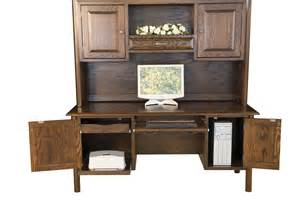 amish computer executive desk pullout shelf solid wood