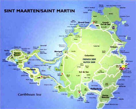 st martin map sint maarten martin