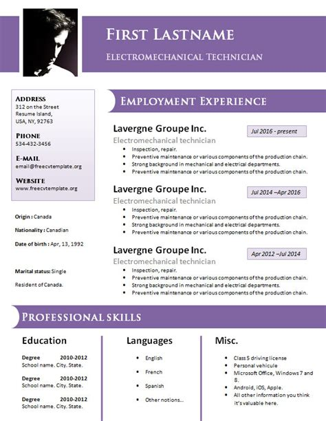 free resume format doc free design resume cv template 925 to 931 free cv template dot org