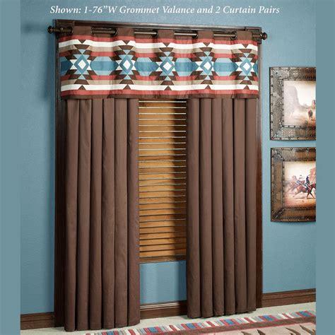Southwest Style Curtains Southwest Frontier Grommet Window Treatments