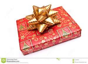 wrapped christmas present stock image image of seasonal