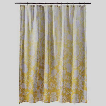 gold curtains target threshold yellow ombre floral fabric shower curtain yellow