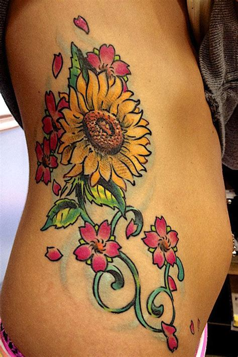 sunflower tattoo designs on foot 40 sunflower designs ideas and meaning
