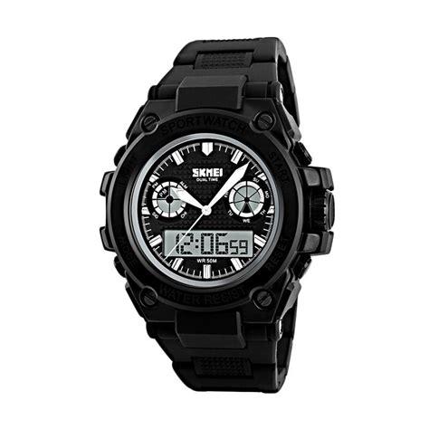 Skmei Jam Tangan Analog Digital Pria Ad1270 Hitam Merah jual skmei 1217 b jam tangan pria hitam harga kualitas terjamin blibli