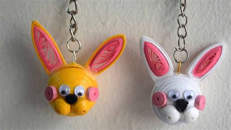 quilling quilled bunny diy key quilled bunny diy key chain easter bunny key chain