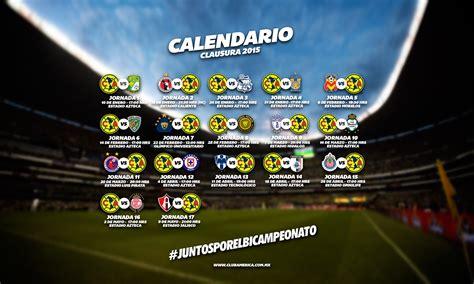 Calendario Liga Mx America Calendario Club America Liga Mx Y Copa Bancomer