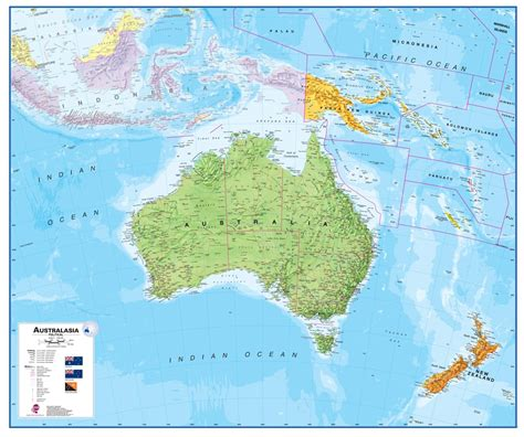map of ausralia wall map of australia large laminated political map