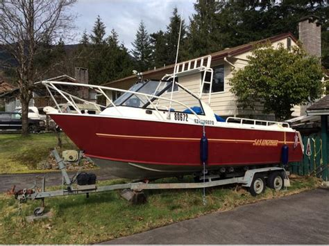 boat trailers for sale comox valley 22 aluminum boat with new 150hp kicker electronics