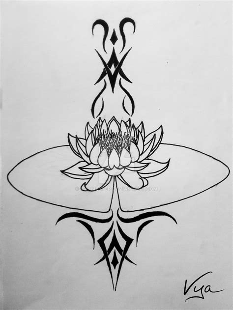 lily tribal tattoo designs water tribal design by vyamester on deviantart