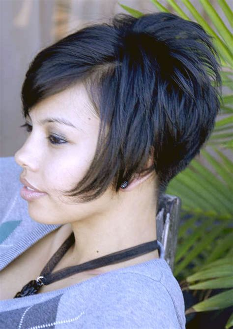haircuts that show your ears short stacked bob front view google search hair cuts