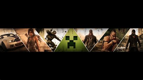 make you a custom youtube gaming banner by nicvicgames intended
