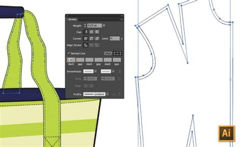 illustrator pattern offset how to draw stitching seam allowance in illustrator