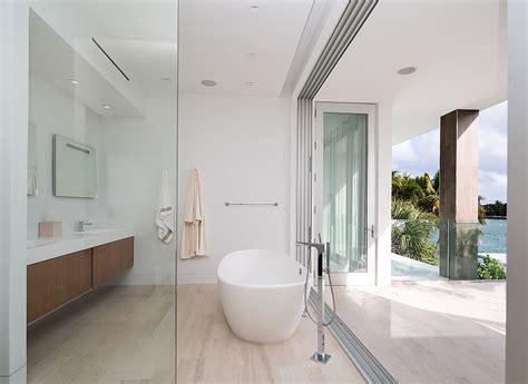 Modern Bathroom Design Miami Dramatic Miami Residence Offers Luxury Draped In Coastal