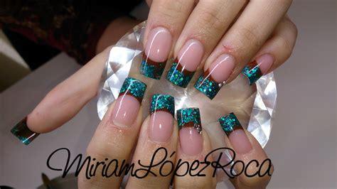 imagenes de uñas negras con azul turquesa miriam dream nails