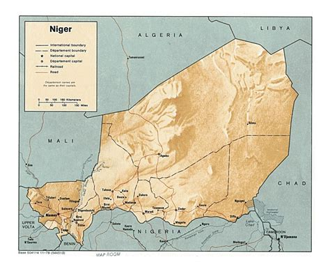 political map of niger maps of niger detailed map of niger in tourist