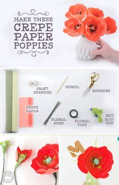 How To Make Crepe Paper Flowers Step By Step - learn how to make crepe paper poppy flowers at home