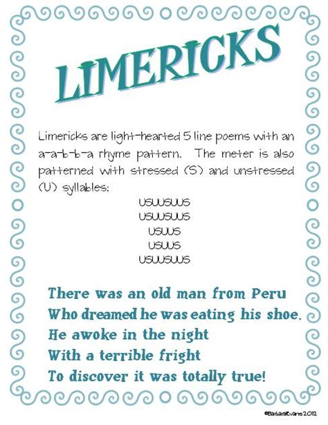 writing a limerick template it s about time teachers more poetry month posters