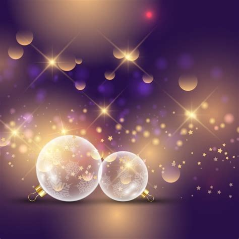 purple bokeh christmas background  shiny style vector