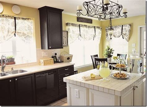 yellow kitchen dark cabinets feature friday amanda carol interiors southern hospitality