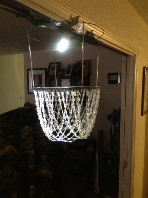 Tomato Cage Chandelier Tier Of My Chandelier Made From A Tomato Cage Chadalier Chandeliers