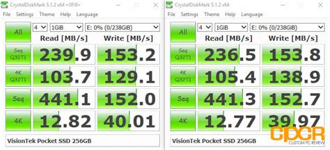 crystal disk bench visiontek pocket ssd review external ssd custom pc review