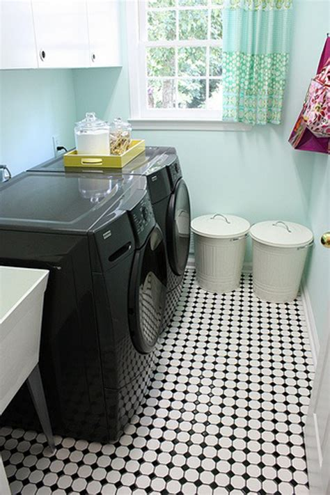 Black And White Laundry Room Ideas Black And White Laundry