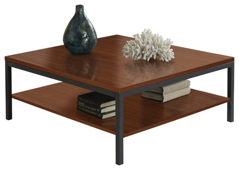 parsons edition square coffee table in cherry modern