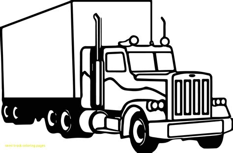 Semi Coloring Pages by Semi Truck Coloring Pages With Peterbilt Coloring Pages