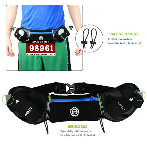 hydration for running hydration belt with two 10 ounce water bottles royal blue