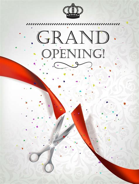 invitation card templates for opening ceremony beautifully opening ceremony invitation poster vector