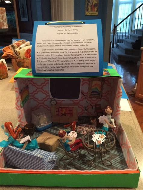 shoe box book report ideas the world according to humphrey diorama book report i