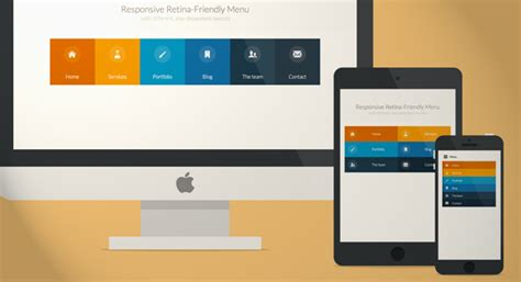 layout css touch responsive retina ready menu