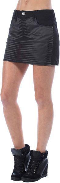 bench garsdale c denim mini skirt in black lyst