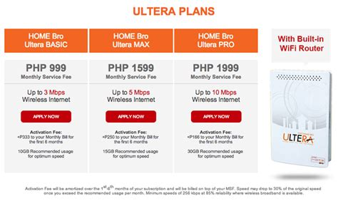 pldt home bro ultera offers lte speed connection
