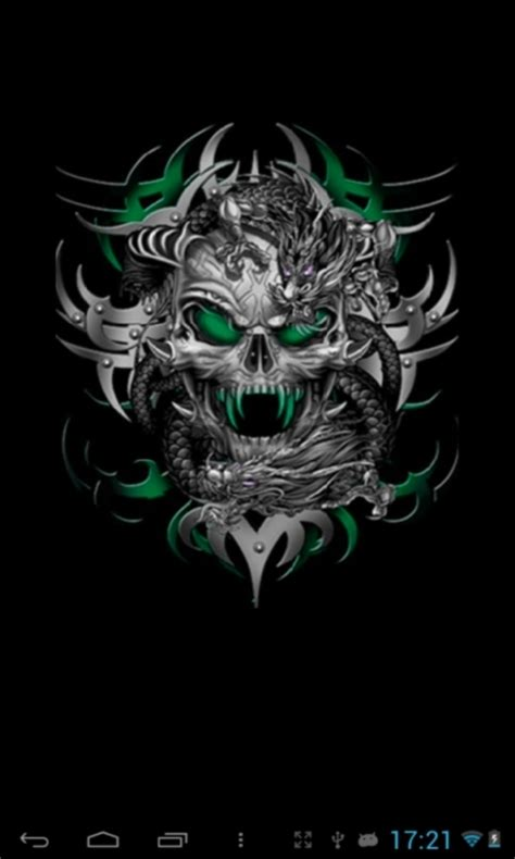 wallpaper android skull free skull live wallpapers free apk download for android