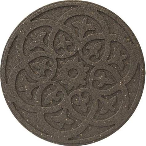 decorative stepping stones home depot envirotile reversible scroll 18 in x 18 in round rubber