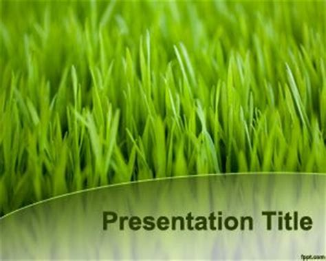 green grass template for powerpoint