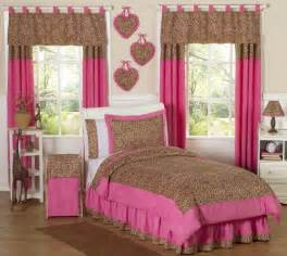 Girl s pink and brown cheetah print bedding kids bedding