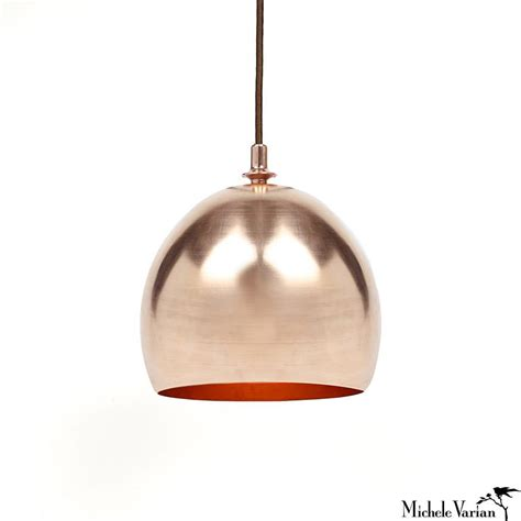 Copper Dome Pendant L Michele Varian Shop Pendant Light Copper