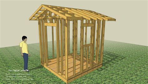 Framing Shed by Begin With The End In Mind Shed Layout And Floor Framing Homebuilding