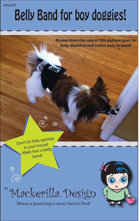 belly band for dogs belly band for boy sewing pattern pdf by mackerilladesign