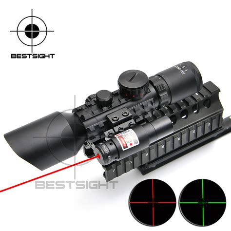 Scope M9 With Laser new 3 10x42 e m9 c mil dot shooting riflescope laser scope riflescope for
