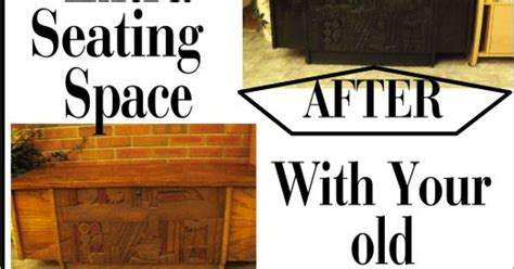 Creating Extra Seating Space With Repurposed Wooden Chest Hometalk | creating extra seating space with repurposed wooden chest