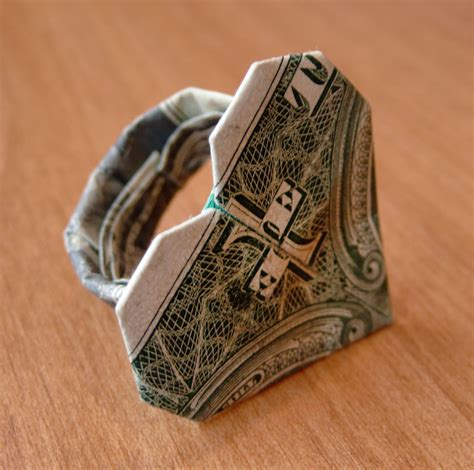 Origami Ring - dollar bill origami ring by craigfoldsfives on