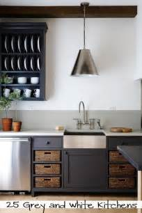 Gray Kitchen With White Cabinets by Grey And White Painted Kitchens Tipsaholic