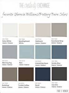 favorite pottery barn paint colors from sherwin williams