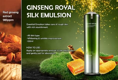 Ginseng Royal Silk nature republic ginseng royal silk emulsion 120ml q de
