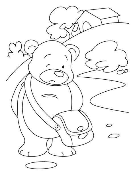 sleeping bear coloring pages animalscoloring