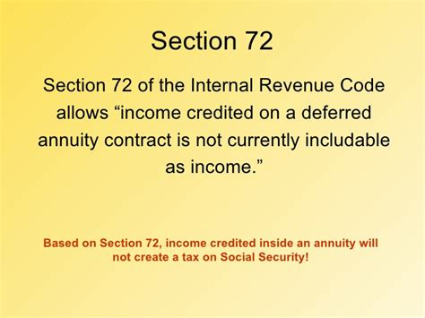 irs code section 72 the taxing of social security