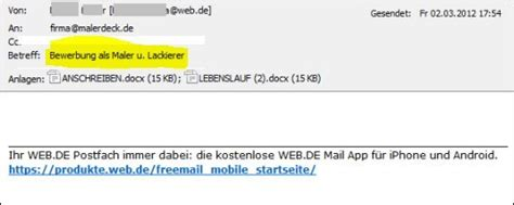 Bewerbung Falsche Anrede mustertext bewerbung per e mail images frompo